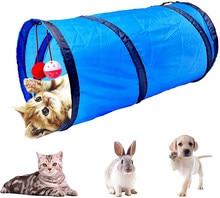 Brinquedo do túnel do gato, tubo do túnel do animal de estimação brinquedos do gato dobrável, tubos interativos do animal de estimação com bolas do sino do divertimento