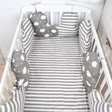 10 шт. хлопковые детские бортики для кроватки ограждение детской кроватки в форме облака кроватка для новорожденного бампер столкновения детская защита для кроватки декоративные подушки набор