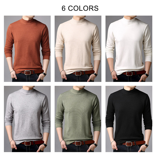 Brand Sweater Casual Winter Thick Warm Sweaters Soft Knitwear 3