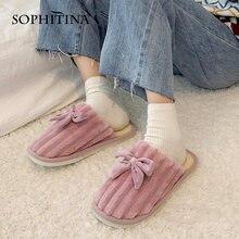 Sophitina/Женская обувь; Зимние теплые женские тапочки из флока