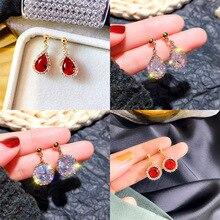 цена на Gorgeous Crystal Zircon Studs Earrings  Cubic Zirconia  Rhinestone Statement Earrings for Women  Eardrop  Jewelry