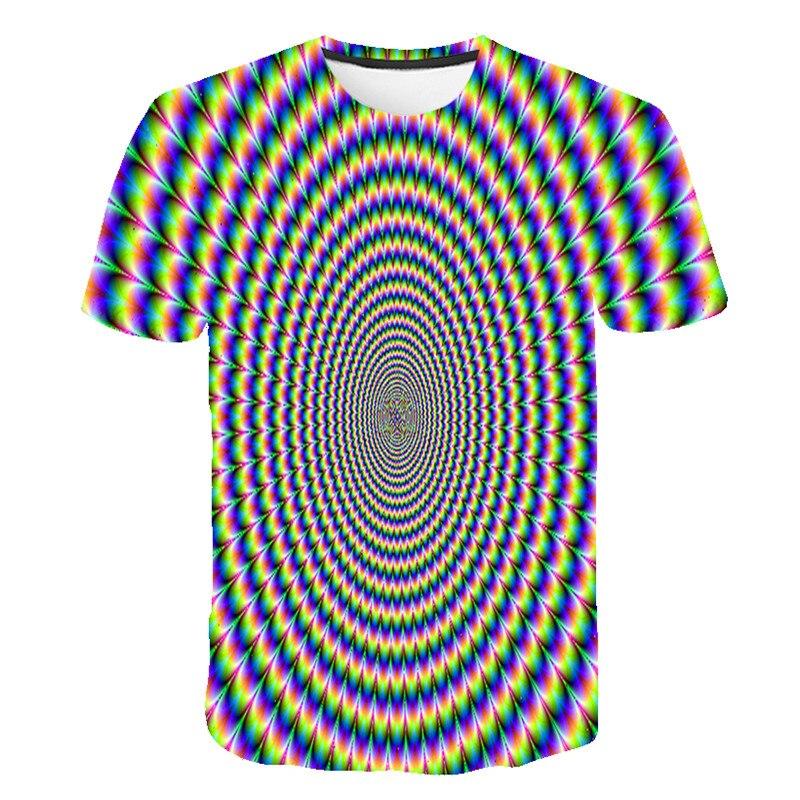 Camiseta Vertigo Hypnotic 3d, camiseta de verano para hombre, camisetas con estampado 3D, camiseta de compresión de manga corta para hombre y mujer, camiseta de fiesta Lámpara de mesita de noche, luz LED para acuario, medusas hipínticas, escritorio relajante, mesa de fantasía con cambio de Color para niños, estilo de ambiente relajante