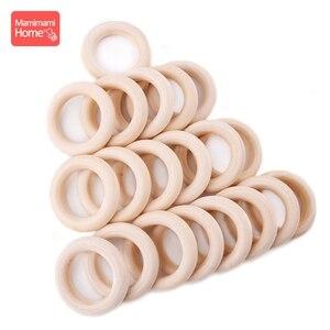 Image 4 - Mamihome 100pcs 25mm 70mm עץ בקיעת שיניים עץ טבעת DIY שרשרת רעשנים עץ ריק teether אחות מתנות ילדים צעצועי מוצרים
