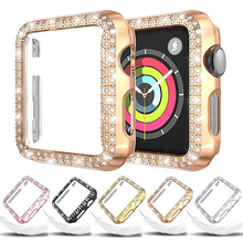 Diamond Case For Apple Watch 5 44mm 40mm iWatch Series 4 Screen Protective cover PC Watch Case for apple watch 3 case 38mm 42mm
