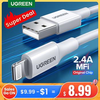 Kabel USB Ugreen MFi dla iPhone 12 Mini 2 4A szybkie ładowanie USB ładowarka kabel danych dla iPhone 12 Pro Max 11 XR 8 USB przewód ładowania tanie i dobre opinie Rohs LIGHTNING CN (pochodzenie) USB A Z certyfikatem MFi For MFi Apple Lightning Cable Fast Charging for iPhone Cable 5V2 4A Fast Charging USB Cable