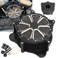 Black Motorcycle Aluminum Air Filter Intake Air Cleaner for Harley Touring Road King Road Glide Electra Glide Dyna FXDLS Softail