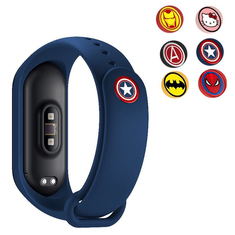 1PCS Anime Hero Bracelet For Mi Band 4 Strap For Xiaomi Mi Band 4 3 Nfc Smart Band Wristband Silicone Straps For Miband 4 / 3