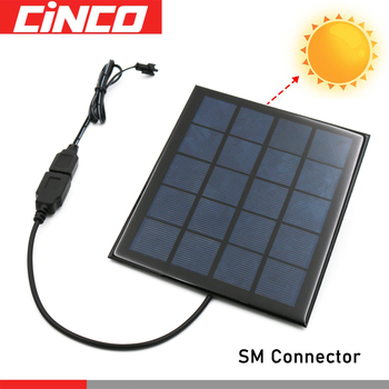 3.6/4.8/6/7.2/8.4/9.6V Charging Cable Solar Panel USB Battery Charger Ni-Cd Ni-MH Batteries Pack SM Plug Adapter Output Toys Car image