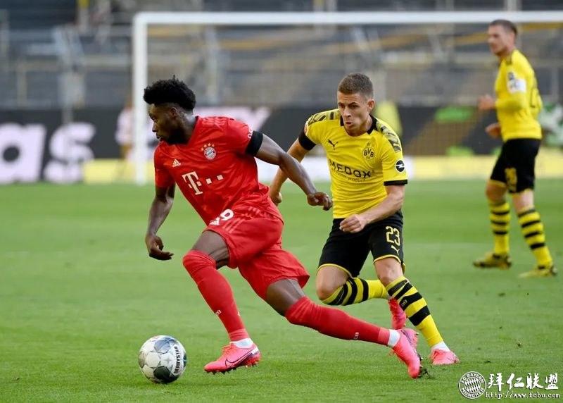 德甲第28轮 多特0:1拜仁 基米希神仙球赢下国家德比6