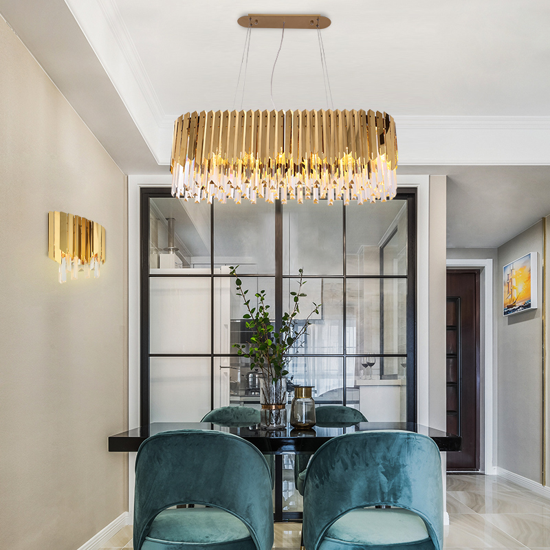 Modern Light Luxury Living Room Chandelier Atmosphere Modern Simple 2020 New Dining Room Bedroom Net Red Crystal Chandelier