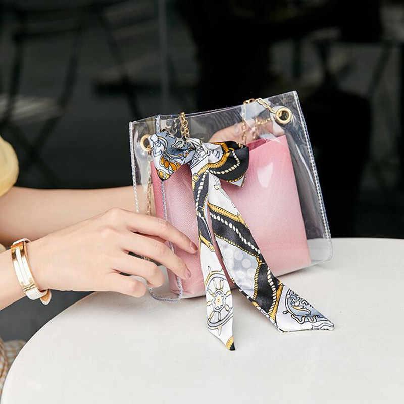 2019 Da Marca de Moda Pequena Bolsa de Ombro Mensageiro Balde Saco das Mulheres Pequeno Crossbody Adolescente Meninas Sling saco Com Lenço Gravata para senhora