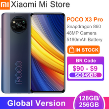 Versão global poco x3 pro 128/ 256gb rom smartphone snapdragon 860 120hz dotdisplay 5160mah bateria 48mp quad ai câmera nfc