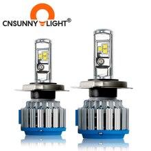 Cnsunnylight H4 hi/lo H7 H11 9006車のledヘッドライト9005 HB3 HB4 H1 H13ハイパワースーパーホワイト6000 6000k電球交換オリジナルランプ
