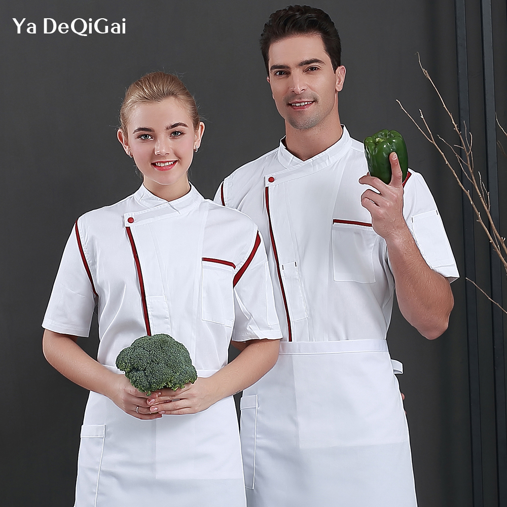 Food Service Chef Uniforms Hotel Restaurant Kitchen Chef Jacket Catering Cook Working Clothes Waiter Overalls Men And Women New