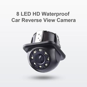 EBILAEN Автомобильный задний вид камеры с 8 светодиодный HD водонепроницаемый парковочный кабель DC 12V CCD Видео резервная камера изображения