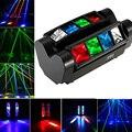 Движущихся голов 80Вт RGBW светодиодный DMX512 звуковой активации автоматического запуска мини-паук сценический светильник луч вращающийся све...