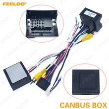 Feeldo android media player navi rádio canbus, caixa de fio para volkswagen golf 5/6/polo/passat/jetta/tiguan/touran/skoda
