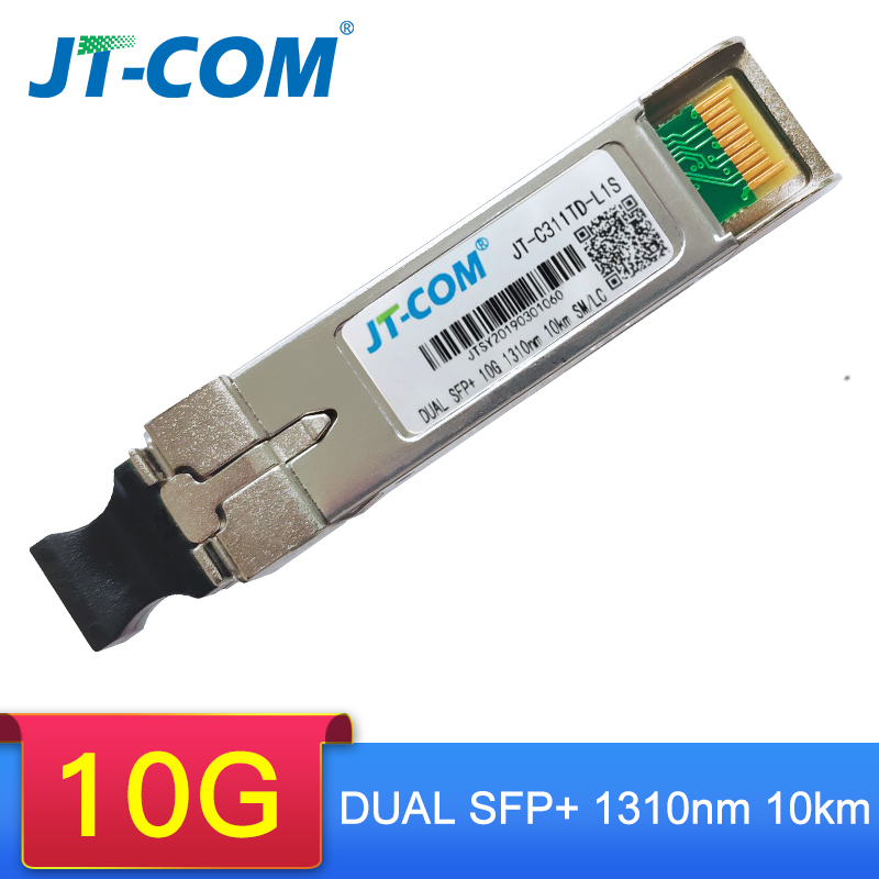 Free Shipping!10G Duplex 10/40/80KM SFP Module SM LC Single Mode Duplex Optic Module Compatible With Cisco/Mikrotik Switch