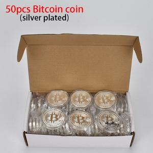 Image 3 - 50 teile/los Sammlerstücke Bitcoin münze BTC Bit Metall Münze Gedenkmünzen Für Souvenir