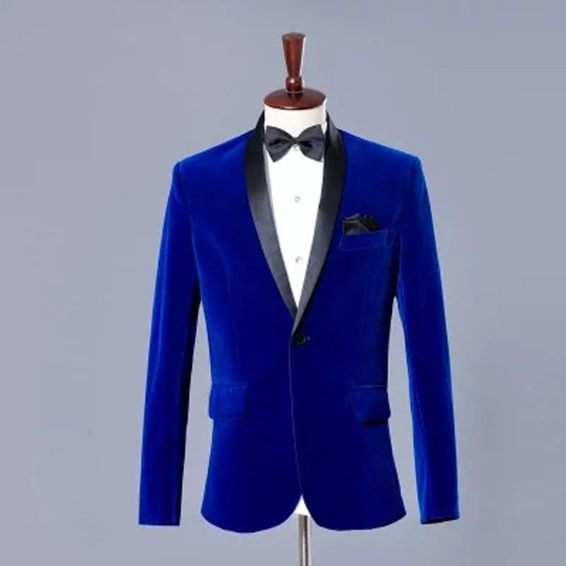 Men Host Formal Dress Set 2019 New Style Slim Fit Velveteen MEN'S Business Suit Adult Performance Formal Dress