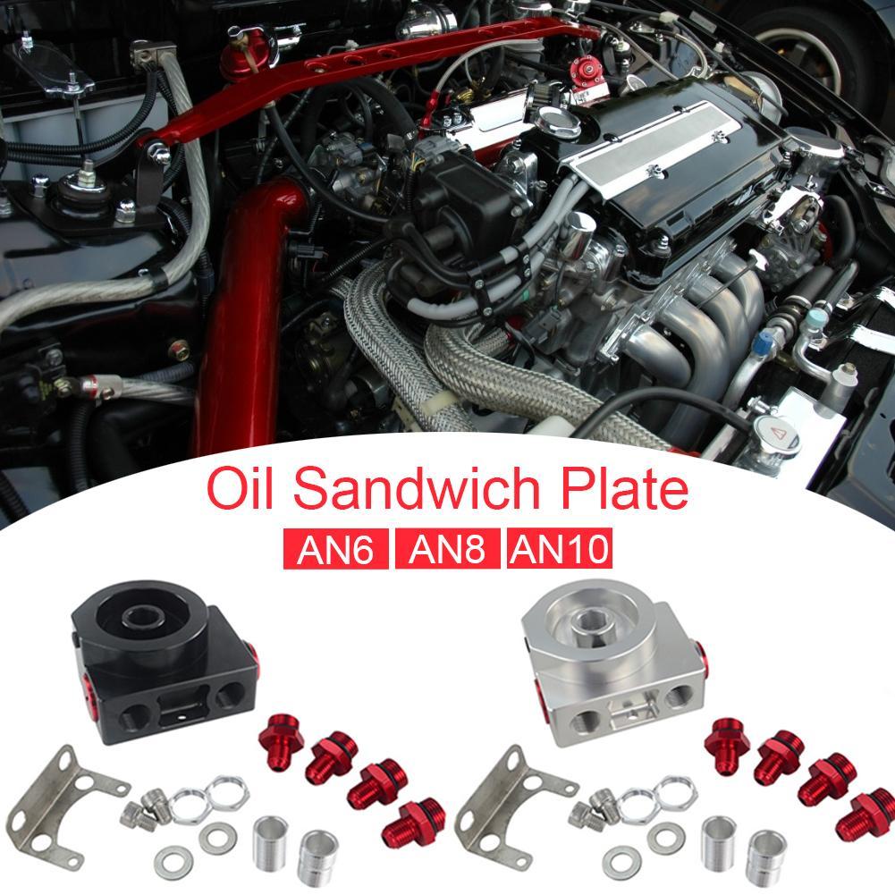 Adaptateur Sandwich pour filtre à huile de voiture avec filtre à huile bloc à distance avec Thermostat 1xAN8 4xAN6/AN8/AN10 JR5675 - 6