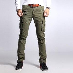 Image 2 - גברים של כותנה הסוואה מכנסיים מטען גדול גודל גמיש טקטי צבאי מכנסיים חאקי מכנסיים גבר מכנסיים Streetwear רצים
