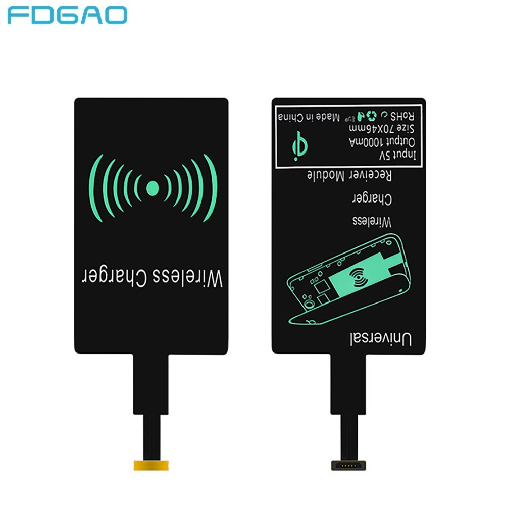 Qi Wireless Charger Receiver Charging Adapter Receiver Pad Coil For iphone Samsung Huawei Xiaomi For Android Micro USB Type C