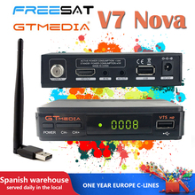 V7s hd With USB WIFI 1 year cccam spain TV Receiver gtmedia v7 hd power by freesat Support built-in usb wifi Network Sharing