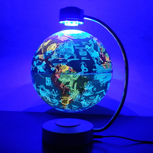 Magnetic Levitating Globe Night Light 20cm Rotating Led Constellation Floating Lamp Colorful Light Home Decoration Holiday Gifts