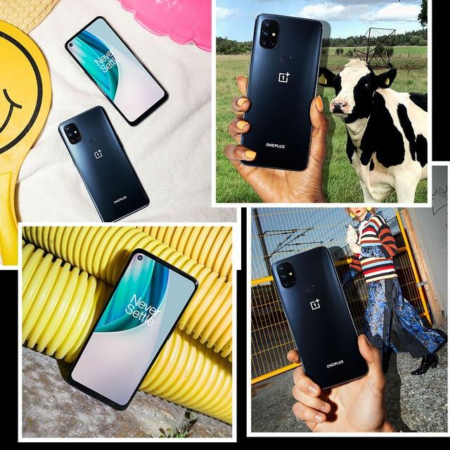 Versão global oneplus nord n10 5g telefone móvel 6.49 polegada 90hz exibição suave 6gb 128gb snapdragon 690 64mp quad camera nfc 6