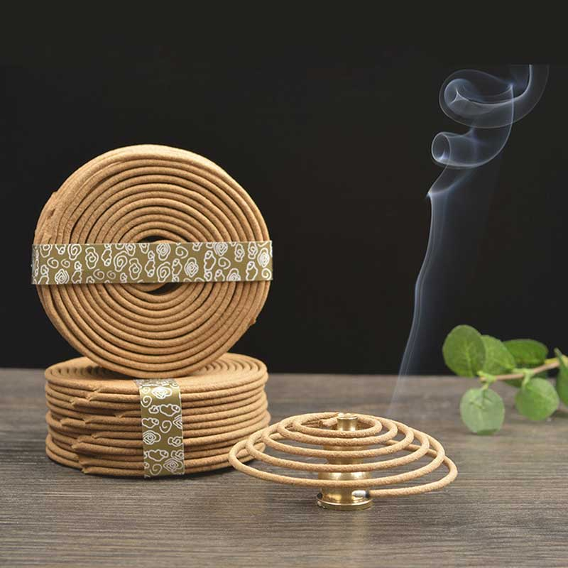 48pcs/box Buddha Incense Indian Natural Sandalwood Fragrance Coil Indoors Buddhist Mosquito Repellent A $