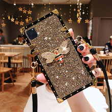 Luxury Diamond Bee For Apple iPhone 11 12 Pro Max Case Mini X XS XR 6 6s 7 8 Plus SE2020 For Samsung Galaxy S 9 10 Note 20 Cover