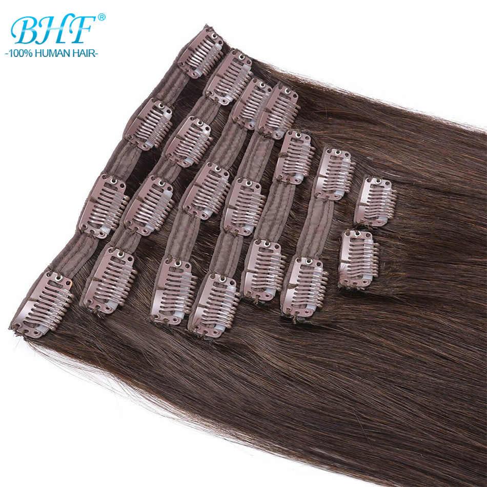 BHF Full Head Clip in Human Hair Extensions 160g to 280g Natural Human Hair 100% Remy Hair Clip Ins