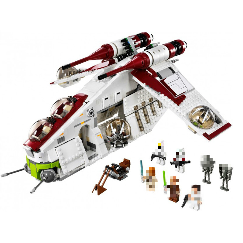 <font><b>05041</b></font> <font><b>War</b></font> UCS The Republic Gunship X Wing <font><b>Star</b></font> Tie Fighter <font><b>Star</b></font> <font><b>Wars</b></font> Building LepinBlocks Set Bricks toys 75021 75102 image