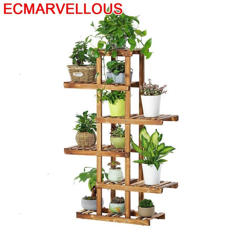 Estanteria Escalera Suporte Flores Stojaki Wood Rak Bunga Indoor Outdoor Balcony Flower Shelf Stojak Na Kwiaty Rack Plant Stand