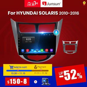 Junsun V1 2G+32G Android 10 Car Radio Multimedia Video Player For Hyundai Solaris Accent i25 2010-2016 Navigation GPS No 2 din