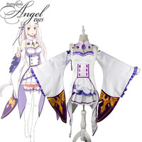 Anime Re:Life in a different world from zero Emilia Cosplay Dress Halloween Party Suit