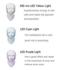 Image 3 - LED Facial Mask Photon Therapy Skin Care Mask with Neck 7 Colors Light Mask Wrinkle Acne Removal Face Beauty Tool
