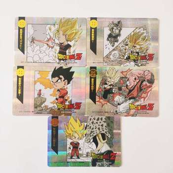 9pcs/set Super Saiyan Q Heroes Battle Goku Vegeta Hobby Collectibles Game Anime Collection Cards 12pcs set saint seiya solid gold soul dragon ball super saiyan goku hobby collectibles game collection anime cards limit