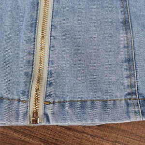 Image 5 - Twotwinstyleパッチワーク弓デニム女性のジャケットスタンド襟長袖ヴィンテージシャーリングジャケット女性のための2020ファッション服