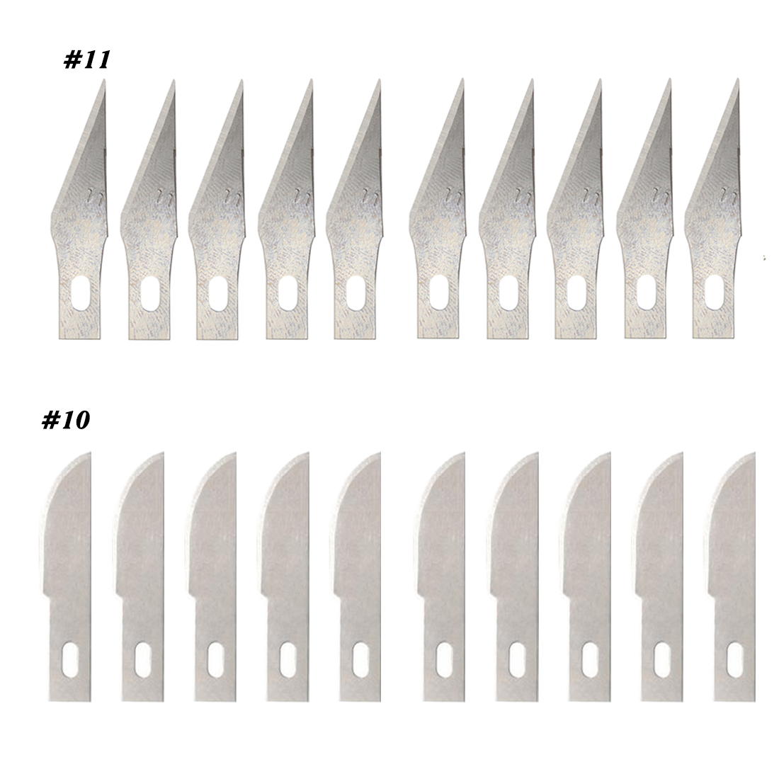 Hand Tools 10 Pcs/set Blades 11#/10# For Wood Carving Tools Engraving Craft Sculpture Knife Scalpel Cutting Tool PCB Repair Tool