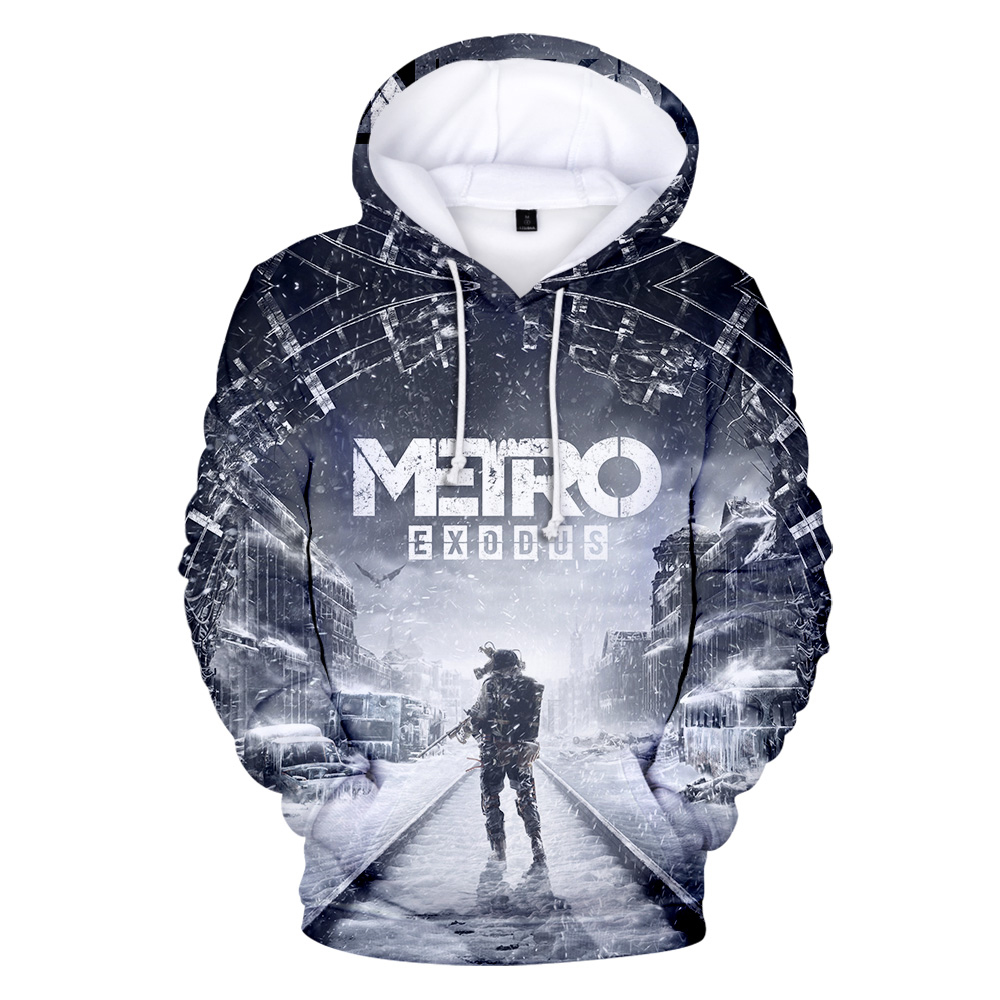 Metro Exodus Subway Leaving 3D Hoodies 3D Print Men/women New Fashion Sweatshirts Autumn Warm Hoodies Boys Casual Coat Clothes