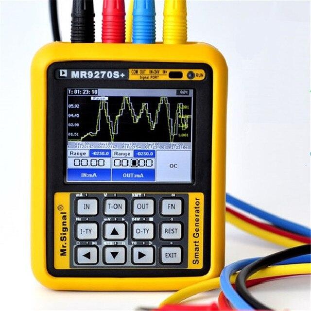 Mr9270s + 4 20ma gerador de sinal, gerador de sinal de calibração tensão atual pt100 transmissor de pressão termopar frequência pid