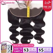 ガブリエル 13 × 4 レースフロント閉鎖 8 22 インチブラジル実体波 100% の remy 毛フロント自然な色人毛