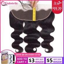 גבריאל 13x4 תחרה פרונטאלית סגירת 8 22 סנטימטרים ברזילאי גוף גל 100% רמי שיער פרונטאלית טבעי צבע שיער טבעי