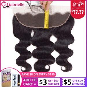 Image 1 - Gabrielle 13x4 Lace Frontal Closure 100% naturelle brésilienne Cheveux Remy, Body Wave, couleur naturelle, 13x4, 8 20 pouces cheveux humains Lace Frontal