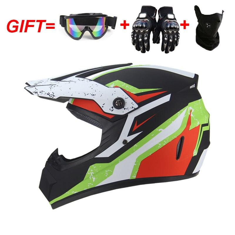 Racing Motocross Helmets Motorbike Motorcycle Helmet Women Men Children Full Face Helmet Cascos Para Moto Capacete Moto 3 Gifts