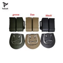 TOtrait Tactical CQC Double Dual Magazine Belt Clip Airsoft Pistol Holster Belt Loop gun holster Accessories For Glock series(China)