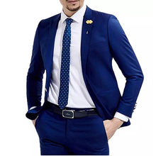 Custom Made Wedding Men Suit 2 Pieces Italian Stylish Men Slim Fit Tuxedos For Party Groom Mens Suits (Jacket+Pants)(China)