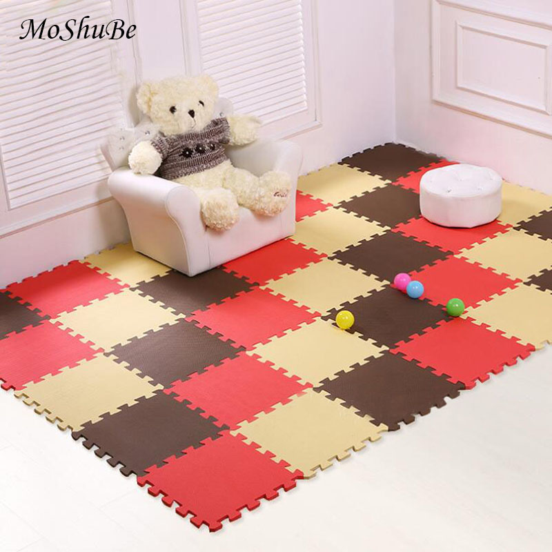 Colorful Baby EVA Foam Kids Play Puzzle Mat Interlocking Exercise Tiles Split Soft Floor Carpet Rug For Kids Game Activity Pad